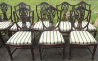 Set of Twelve Shield Back Mahogany Dining Chairs